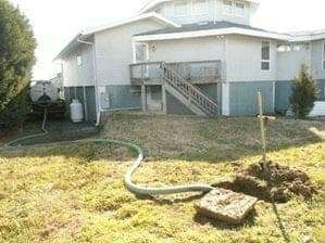 Septic services at a residence